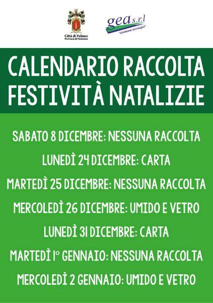 Calendario Feste.Citta Di Paliano Calendario Raccolta Differenziata